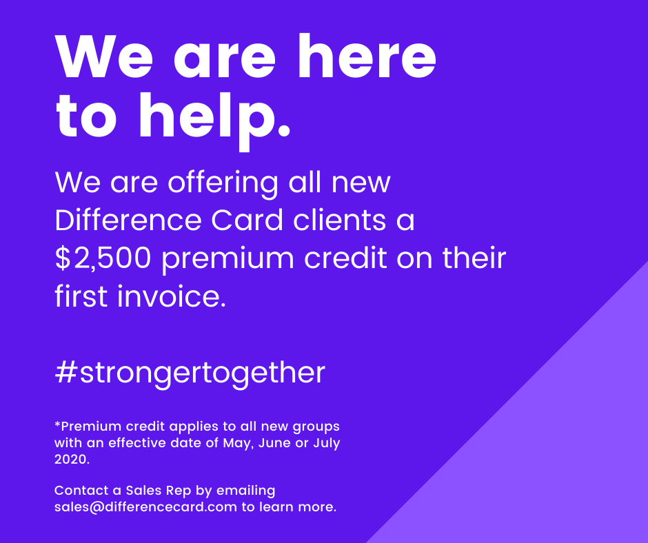 We're offering a $2,500 credit to new Difference Card clients