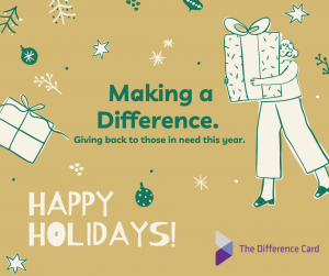 happy holidays from the difference card