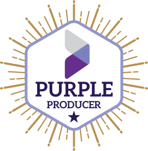 purple producer badge